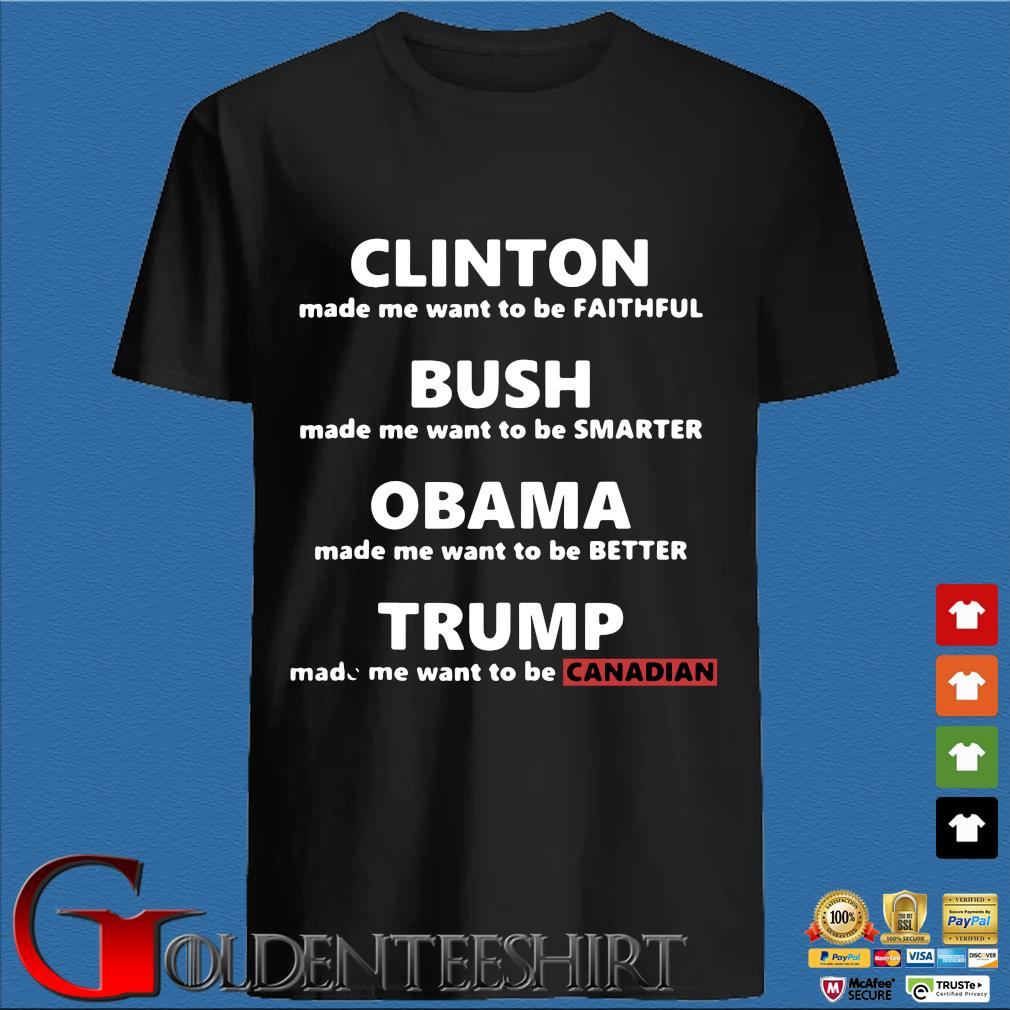Trump makes me want to be Canadian anti Trump political shirt