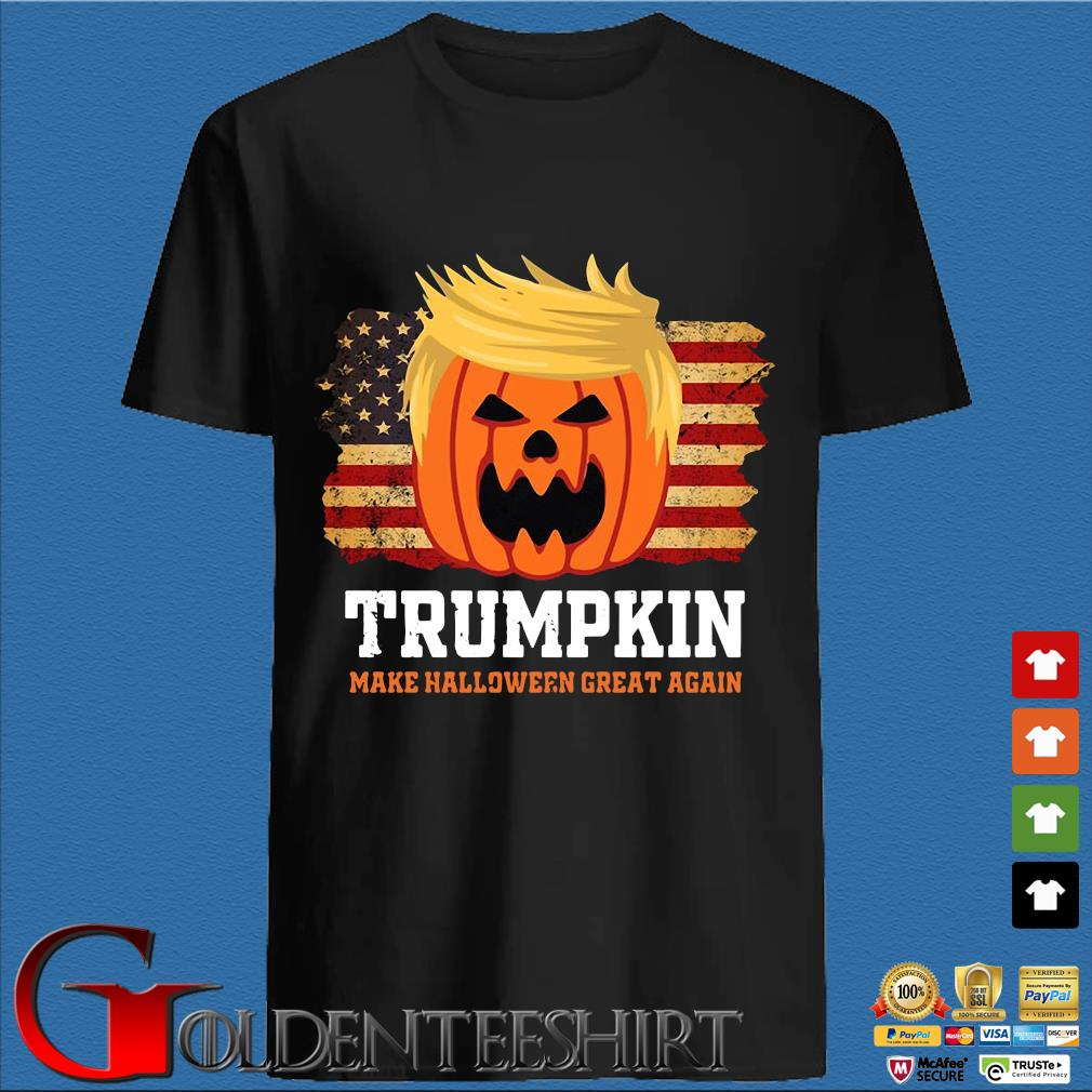 Trumpkin make Halloween great again American flag shirt
