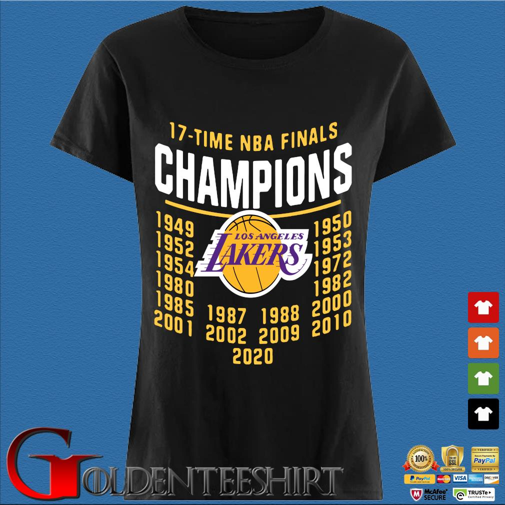 17 Time NBA Finals Champions Los Angeles Lakers Shirt Den Ladies