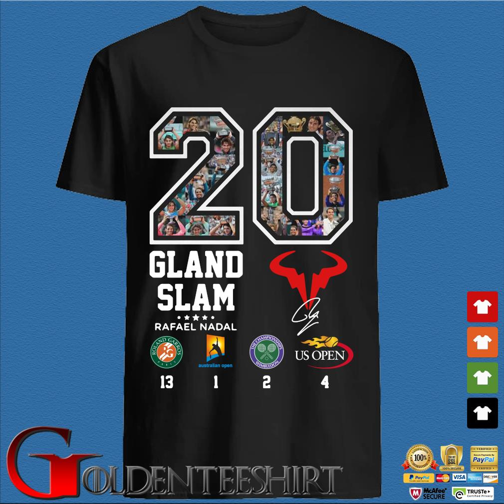 20 Gland Slam Rafael Nadal shirt