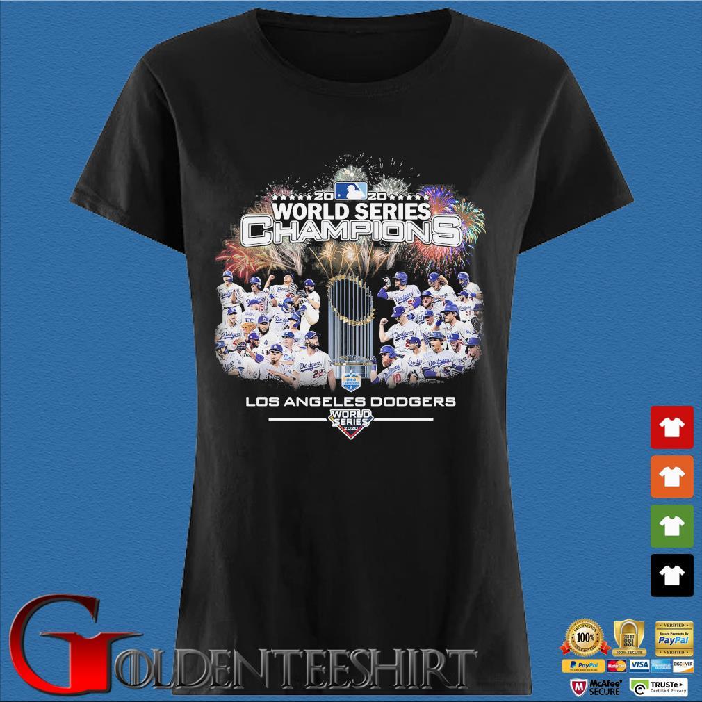 2020 world series Champions Los Angeles Dodgers T-Shirt Den Ladies
