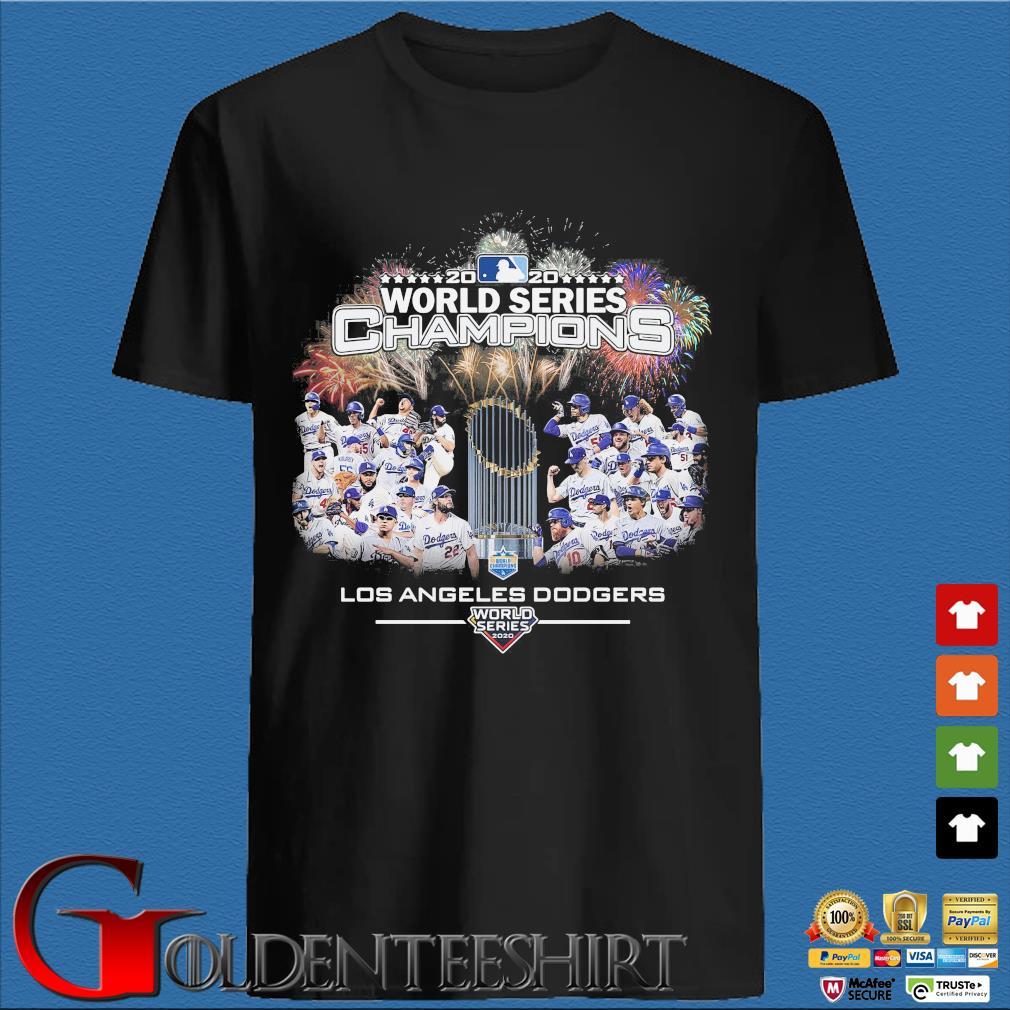 2020 world series Champions Los Angeles Dodgers T-Shirt den Shirt