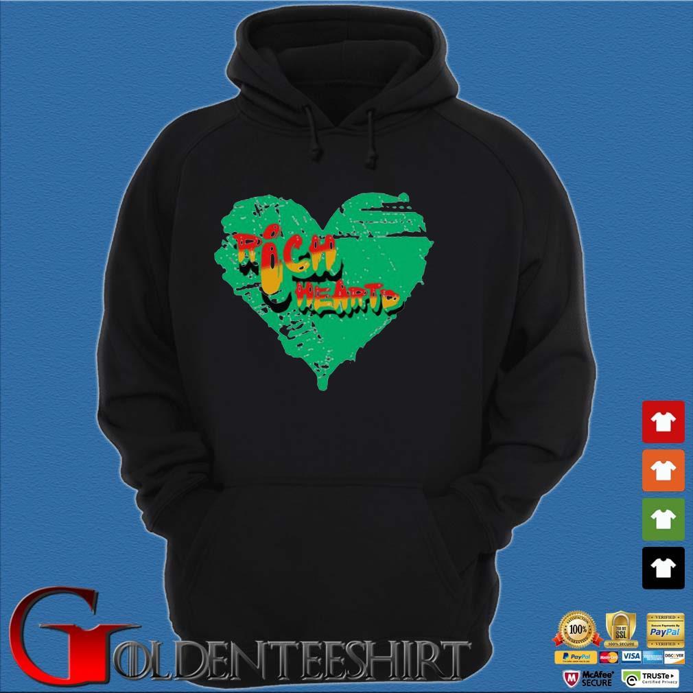 316 Richheartd Rich Heartd Tee Shirt Hoodie đen