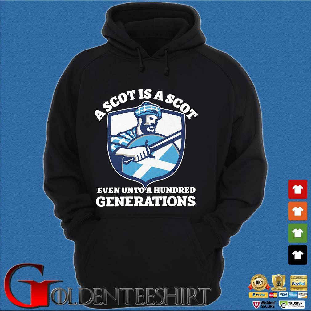 A scot is a scot even unto an hundred generations Scotland s Hoodie đen