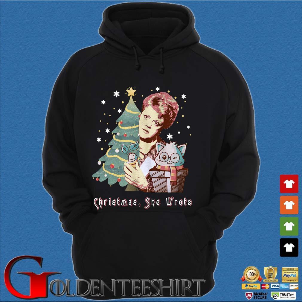 Angela Lansbury Christmas she wrote sweater Hoodie đen