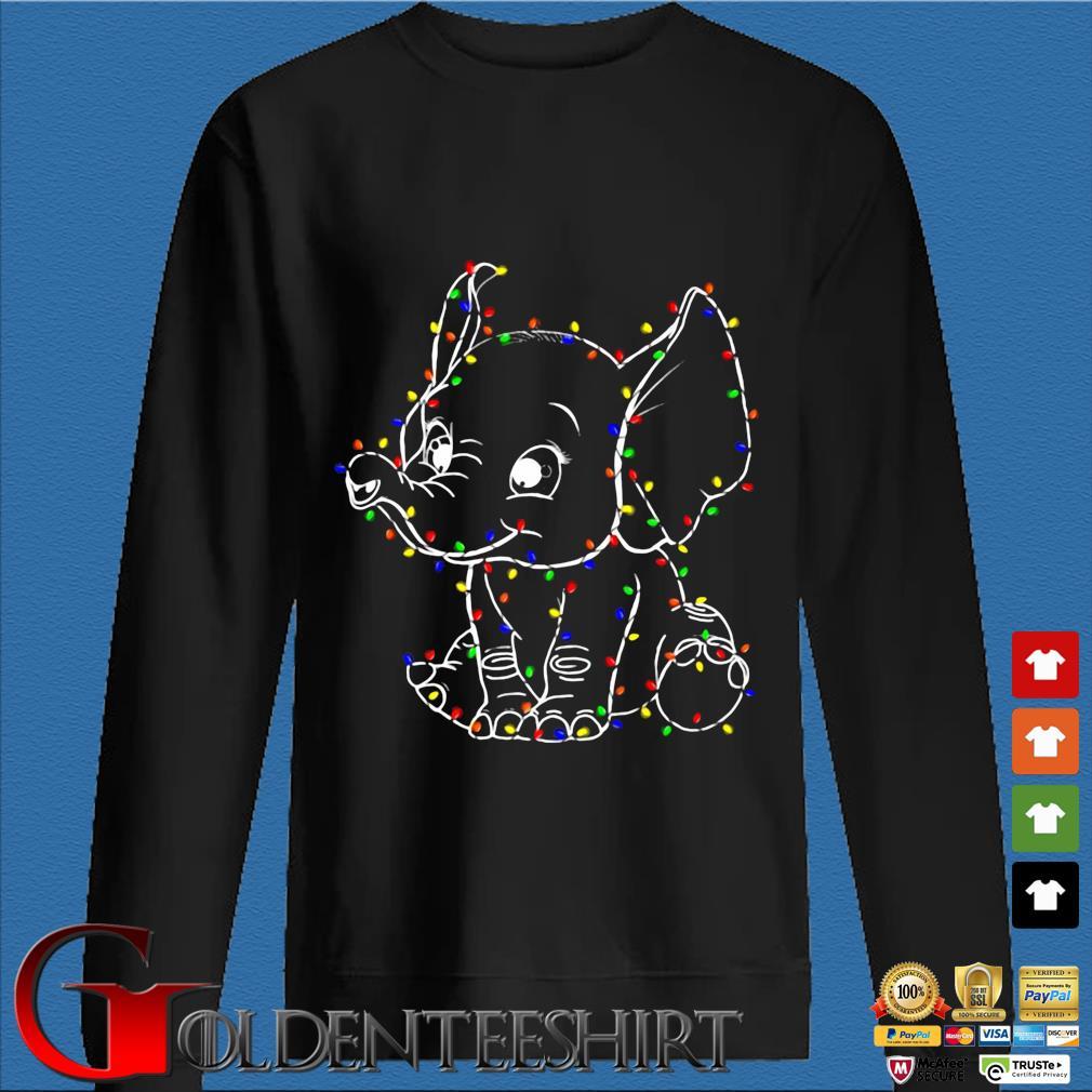 Baby Elephant led light Christmas sweater