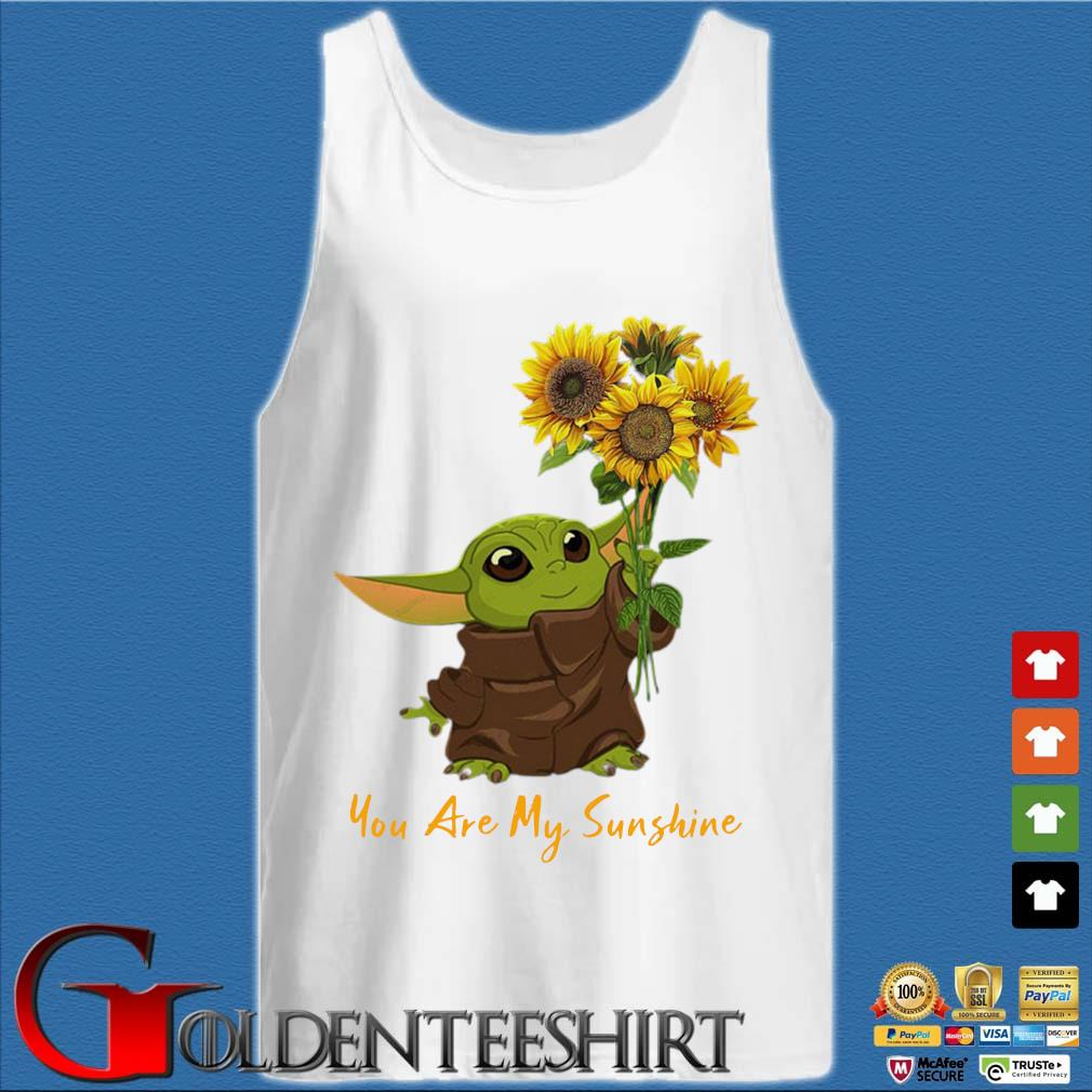 Baby Yoda sunflower you are my sunshine s Tank top trắng