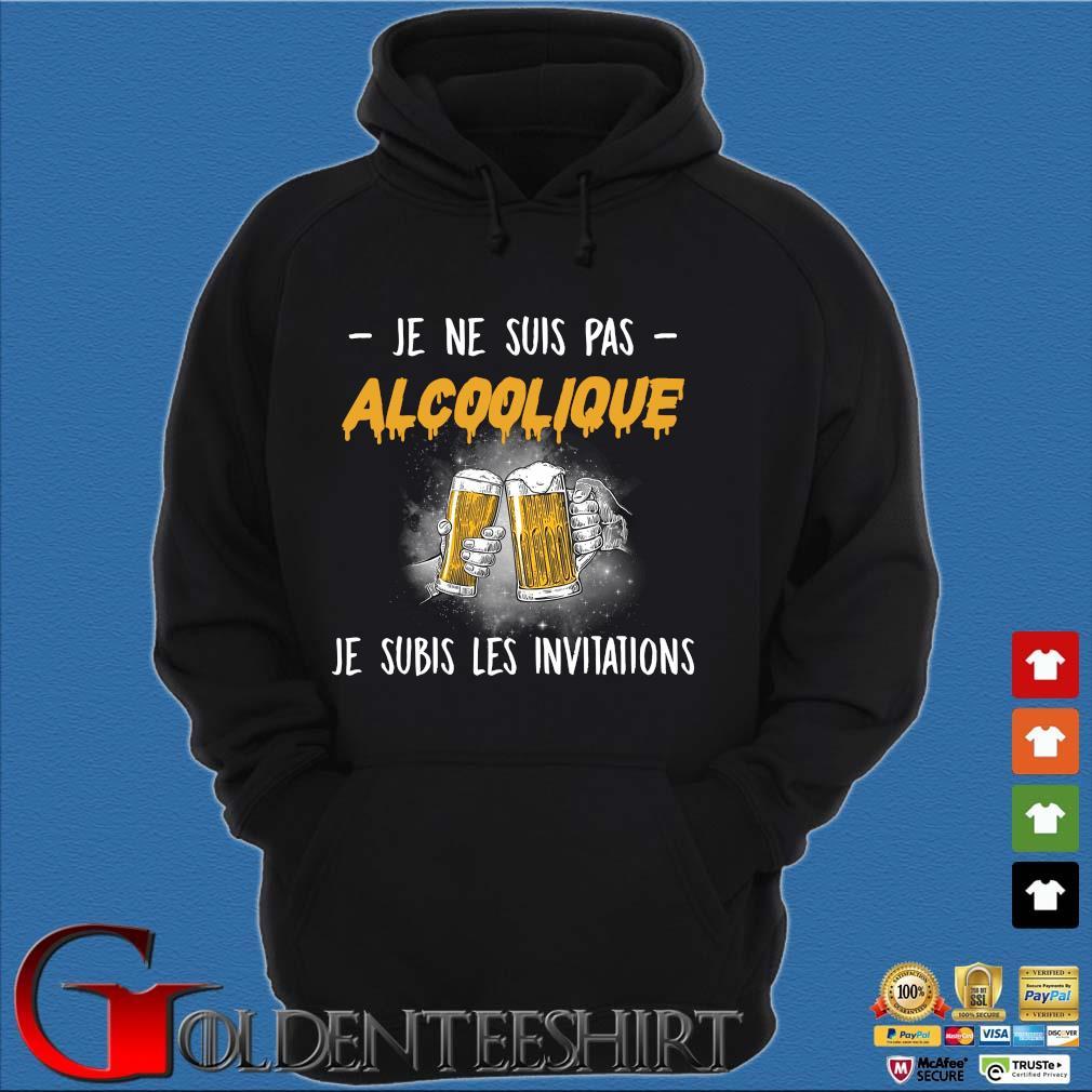 Beer je ne suis pas Alcoolique je subis les invitations s Hoodie đen