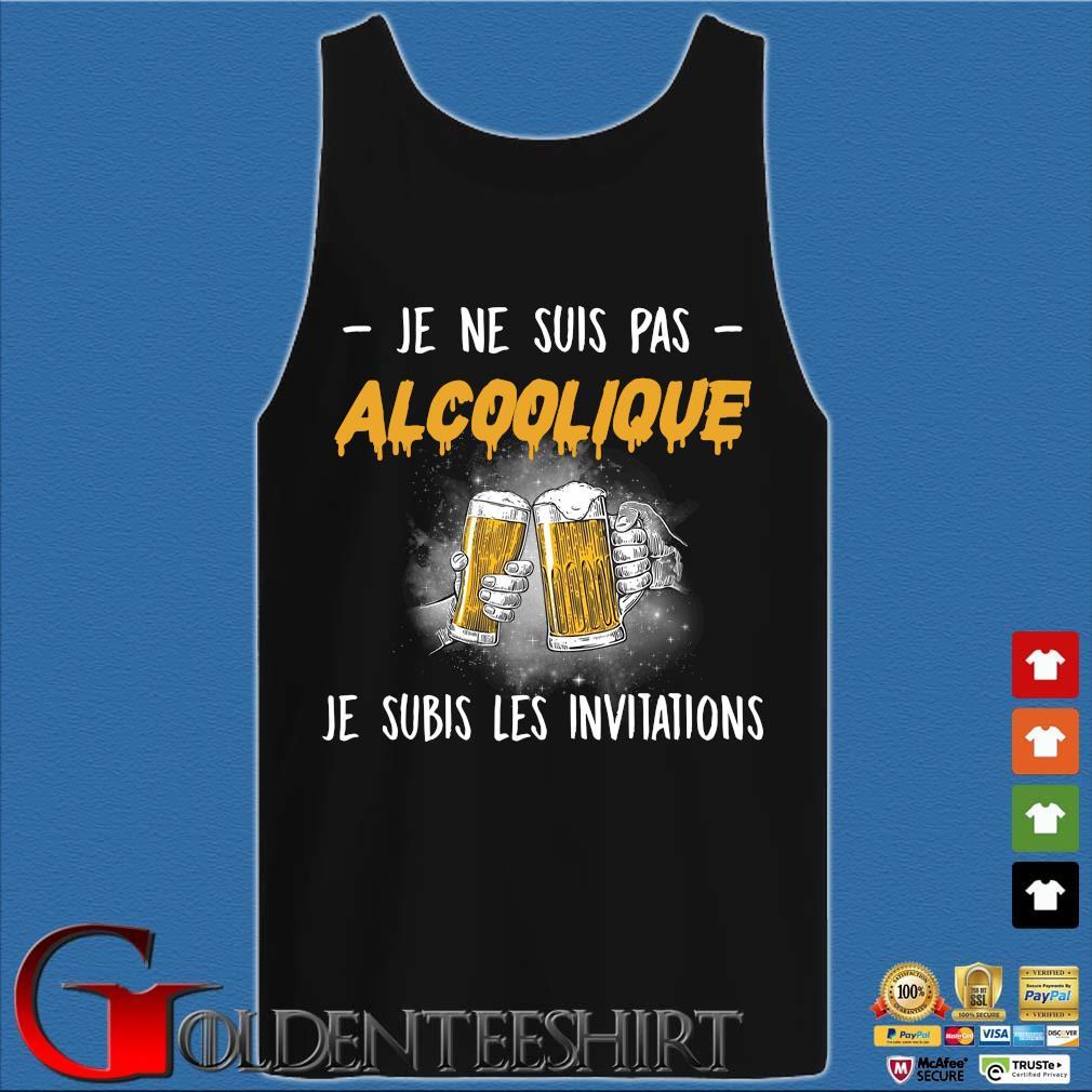 Beer je ne suis pas Alcoolique je subis les invitations s Tank top den