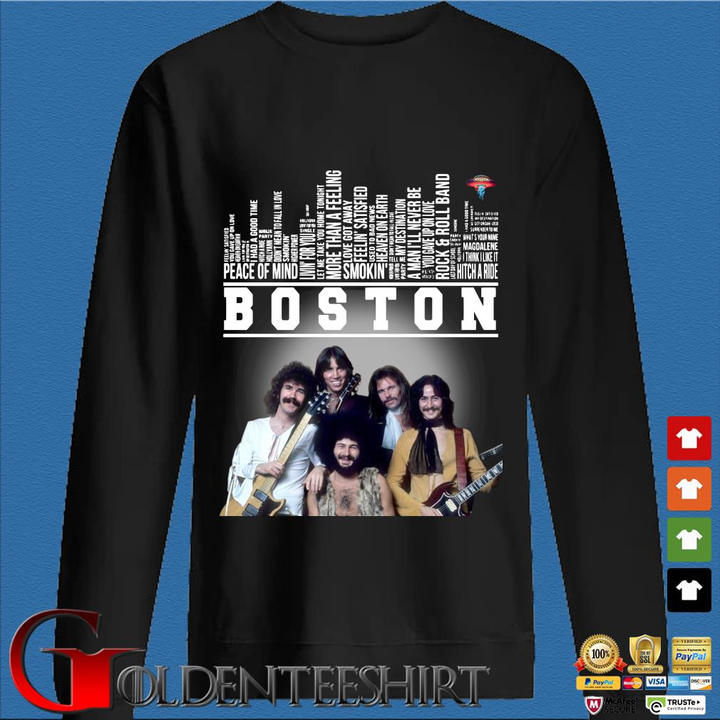 Boston Peace Of Mind Rock And Roll Band Thank You For The Memories Shirt