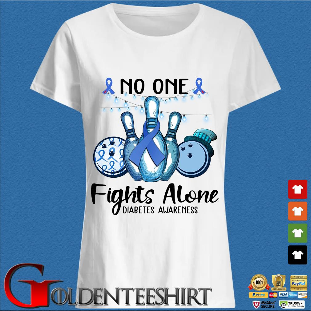 Bowling no one fights alone diabetes awareness breast cancer blue s Trang Ladies