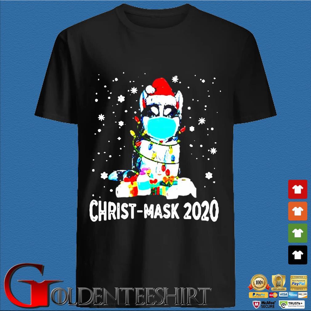 Cat wear mask quarantine Christ-Mask Christmas 2020 shirt
