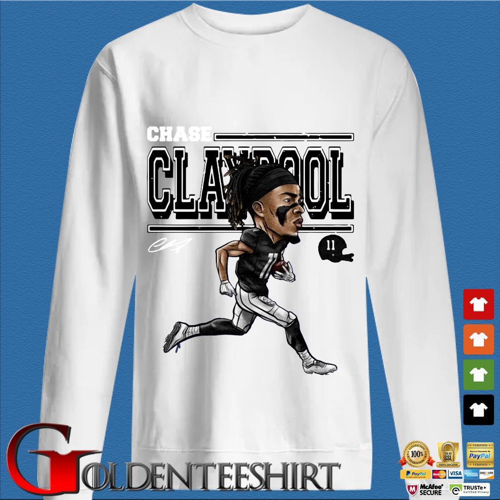 Chase Claypool Cartoon Shirt trang Sweater