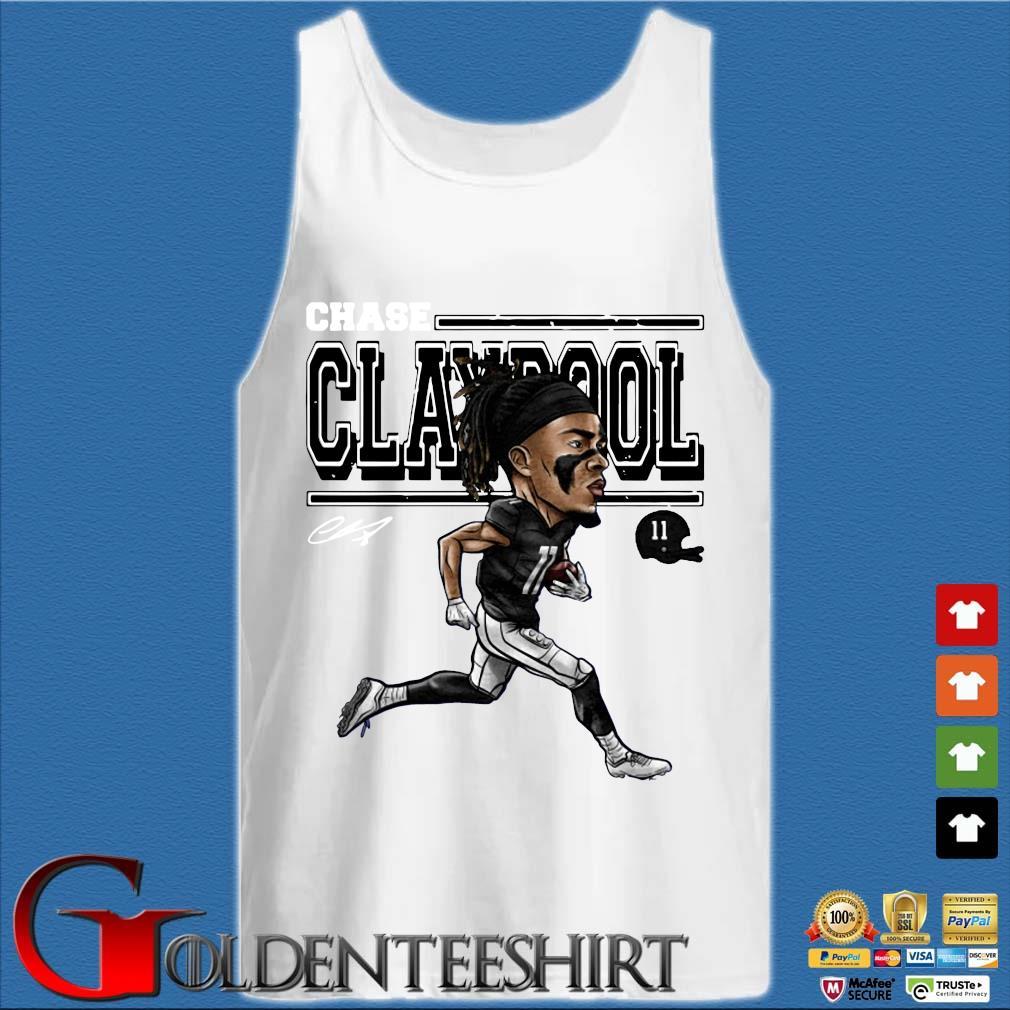 Chase Claypool Cartoon T-Shirt Tank top trắng