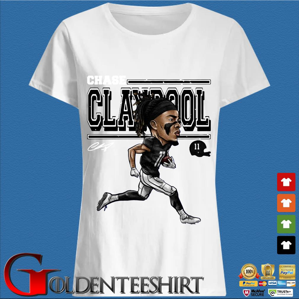Chase Claypool Cartoon T-Shirt Trang Ladies