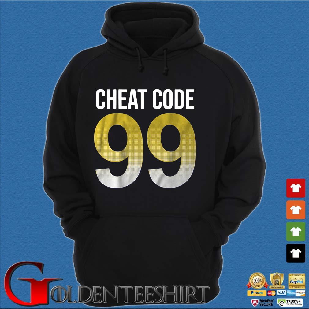 Cheat code 99 s Hoodie đen