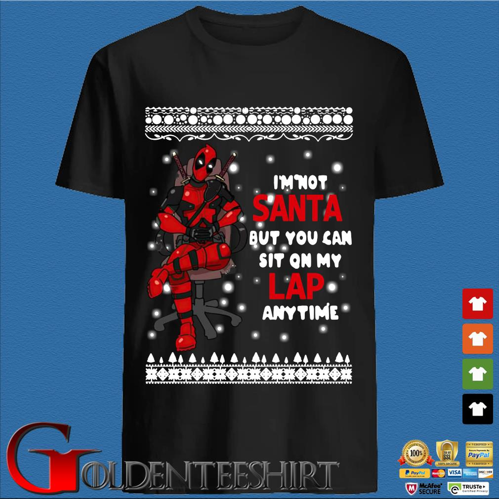 Deadpool I'm not Santa but you can sit on my Lap anytime Christmas sweatshirt