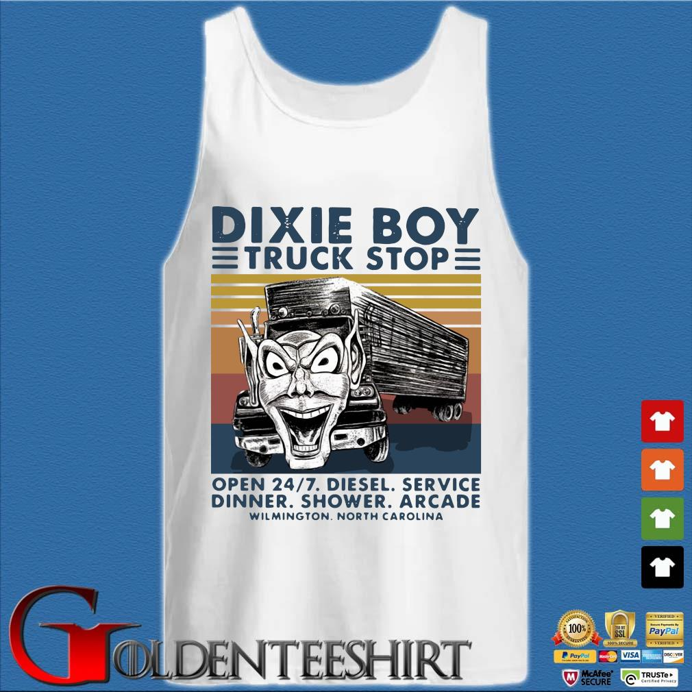 Dixie Boy truck stop open 247 diesel service dinner shower arcade vintage s Tank top trắng