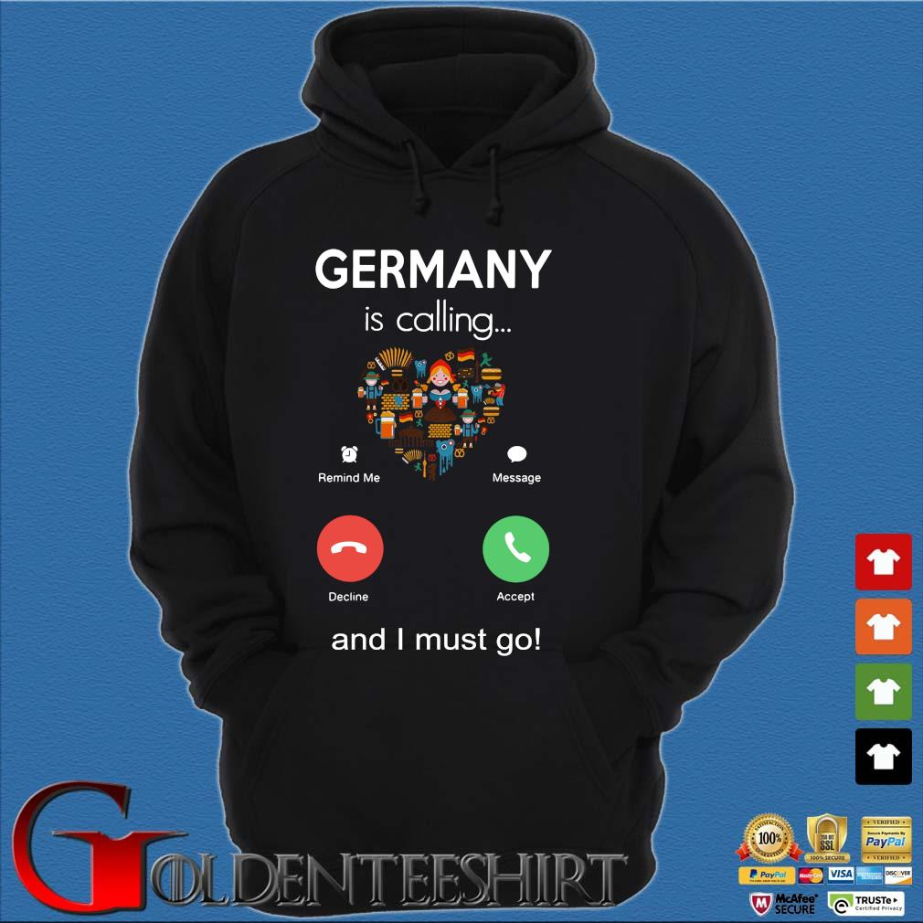 Germany is calling and I must go s Hoodie đen