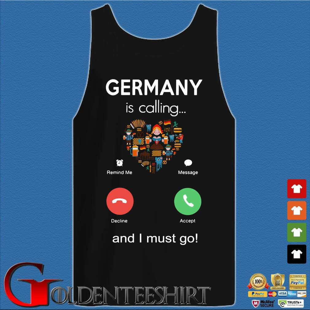 Germany is calling and I must go s Tank top den