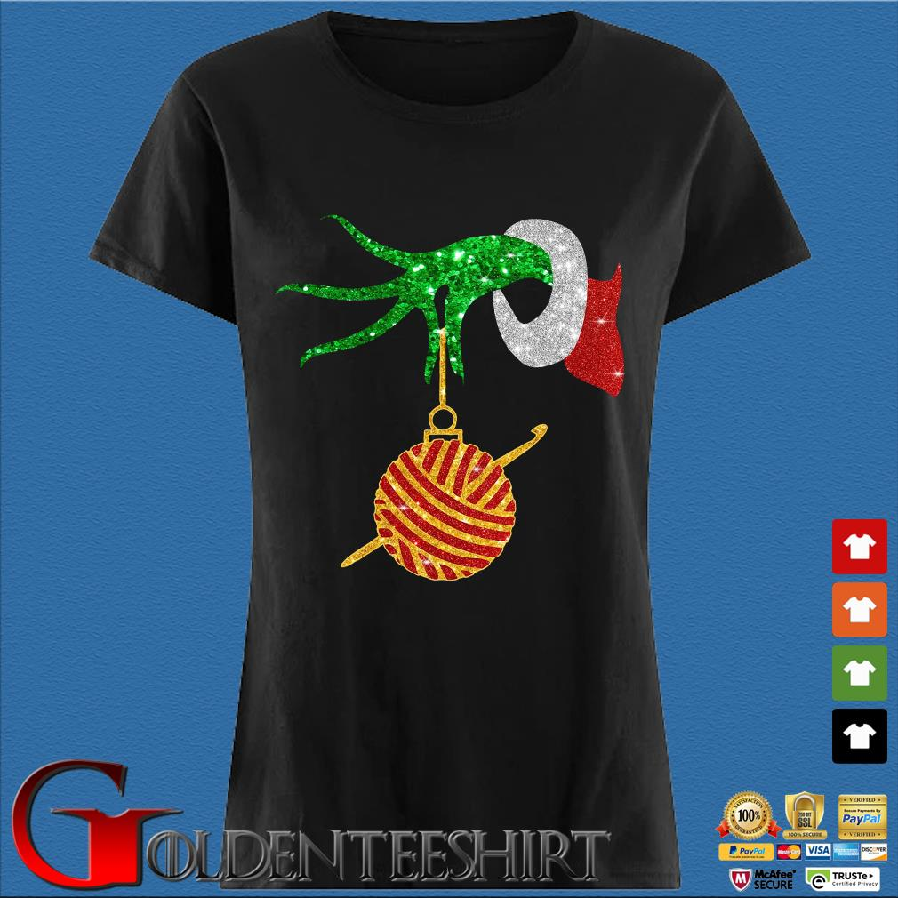 Grinch holding Las Vegas Raiders happy Hallothanksmas shirts Den Ladies