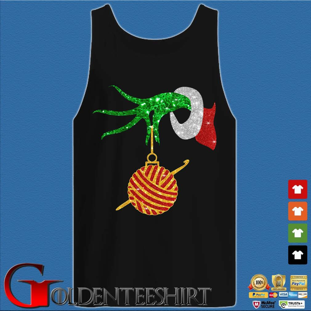 Grinch holding Las Vegas Raiders happy Hallothanksmas shirts Tank top den