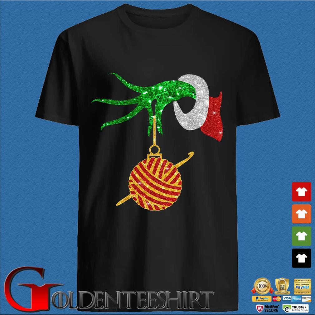 Grinch holding Las Vegas Raiders happy Hallothanksmas shirts