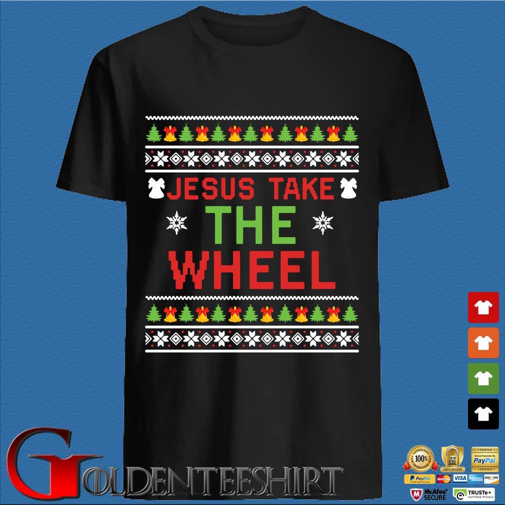 Jesus take the wheel Ugly Christmas sweater Goldenteeshirt