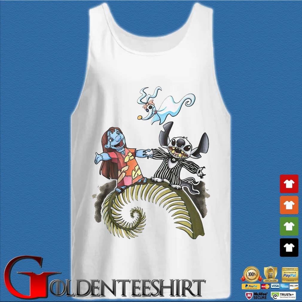Lilo and Stitch Halloween Jack Skellington Sally Zero s Tank top trắng