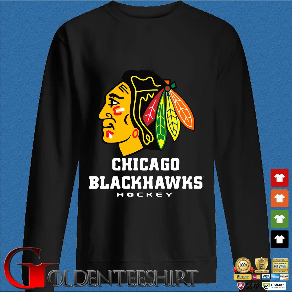 Logo NHL Chicago Blackhawks Hockey Shirt Den Sweater