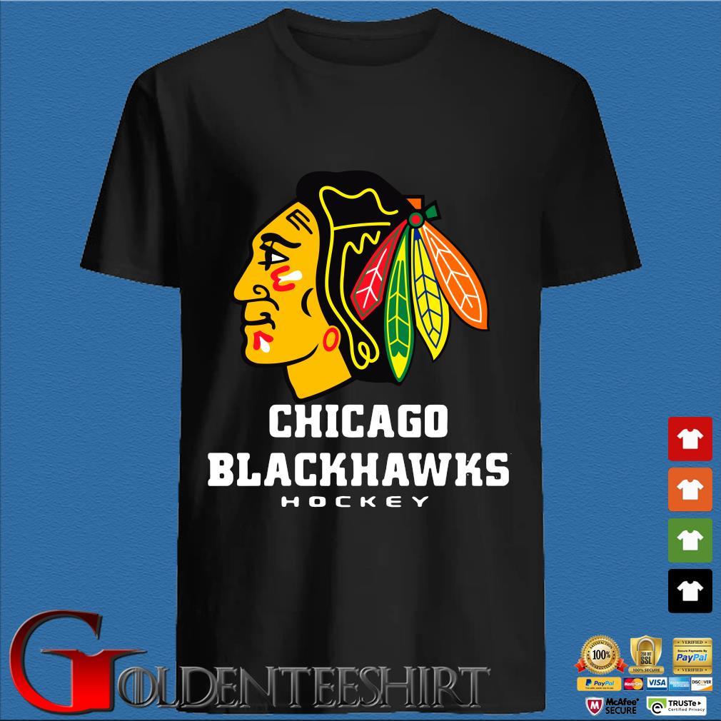 Logo NHL Chicago Blackhawks Hockey Shirt