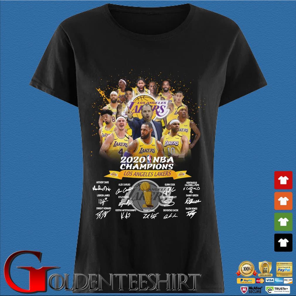 Los Angeles Lakers 2020 NBA Champions signatures s Den Ladies