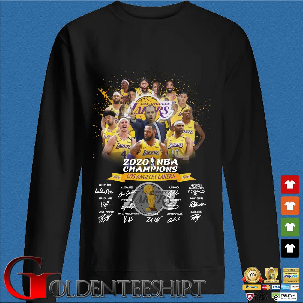 Los Angeles Lakers 2020 NBA Champions signatures s Den Sweater
