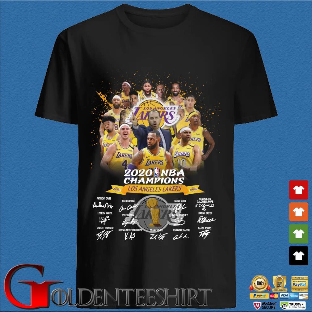 Los Angeles Lakers 2020 NBA Champions signatures shirt