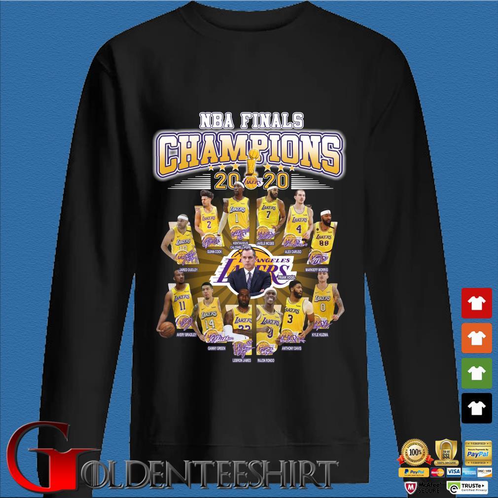 NBA finals Champions 2020 player signatures s Den Sweater