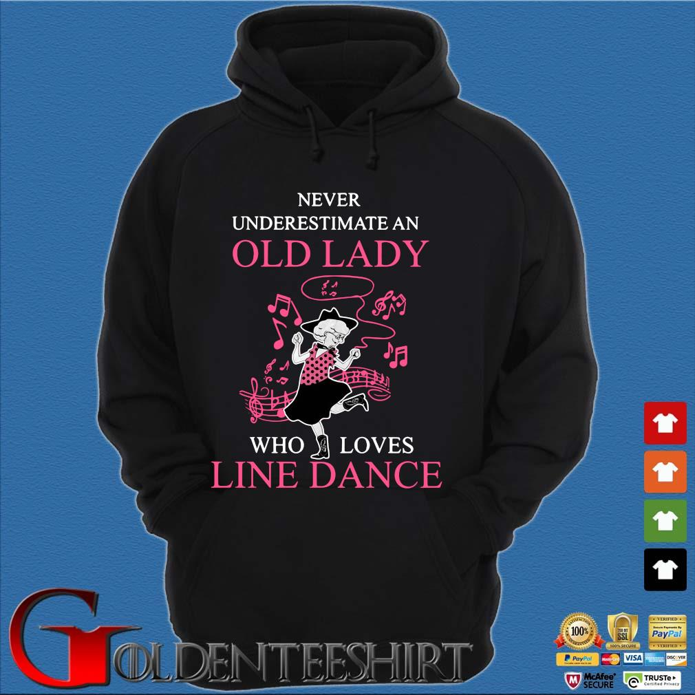 Never underestimate an old lady who loves line dance pink s Hoodie đen