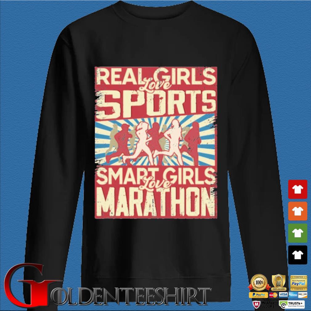 Real girls love sports smart girls love marathon 2020 s Den Sweater