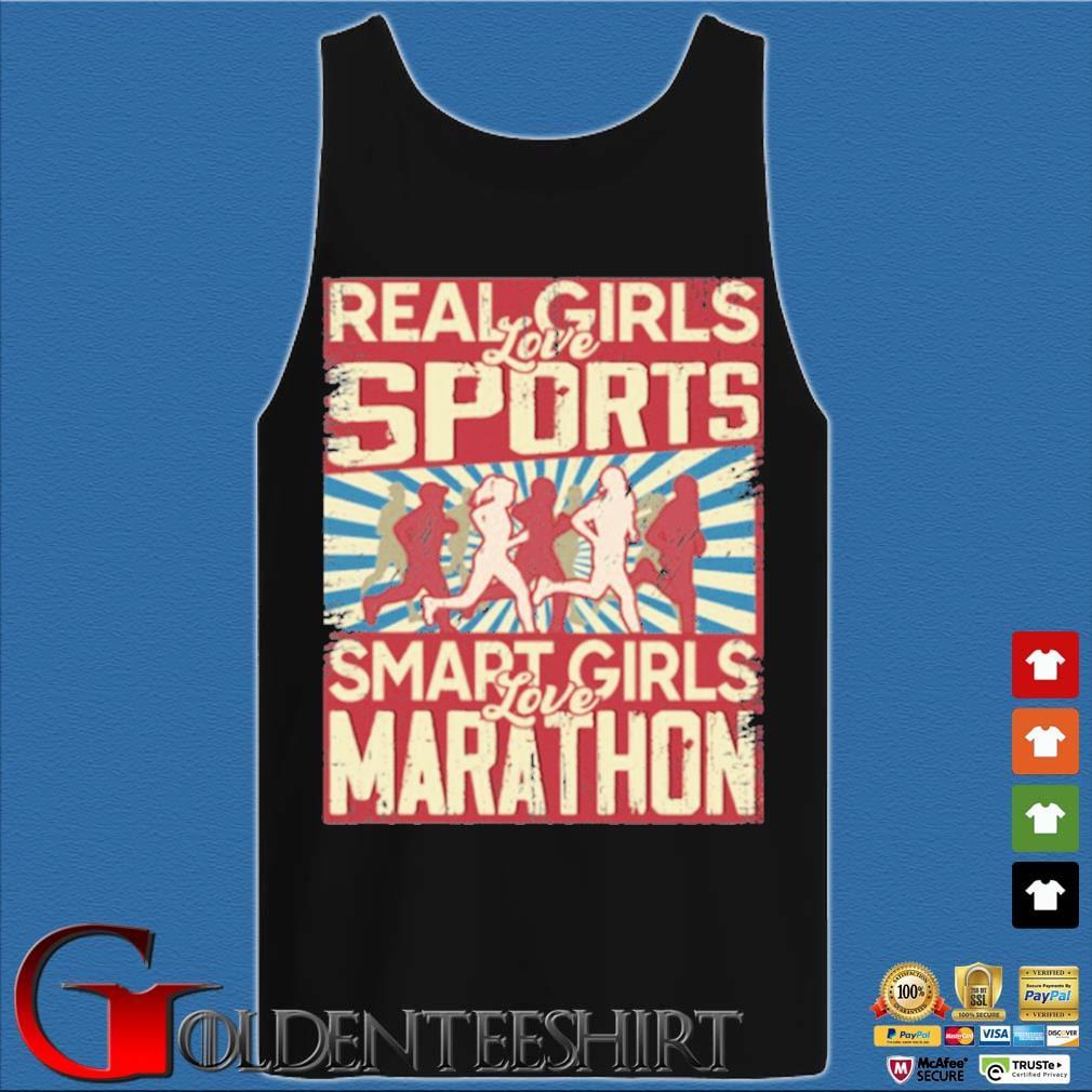 Real girls love sports smart girls love marathon 2020 s Tank top den