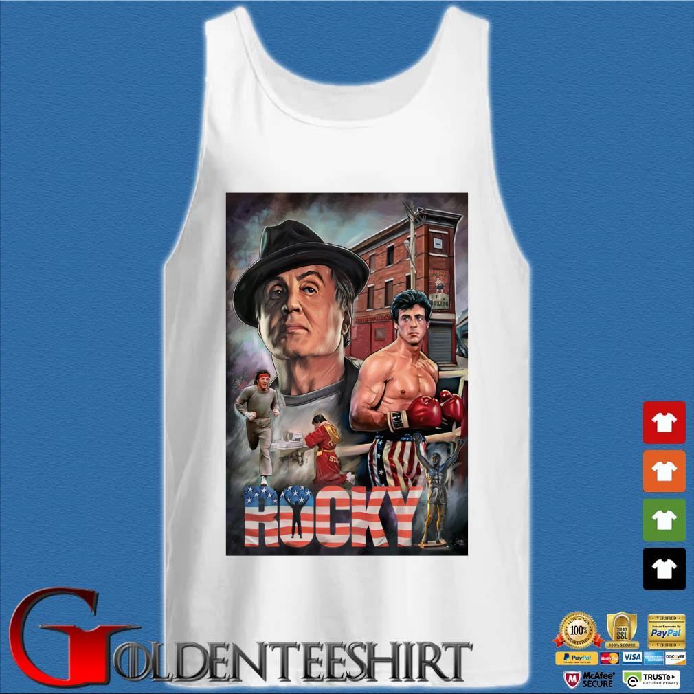 Rocky Balboa America s Tank top trắng