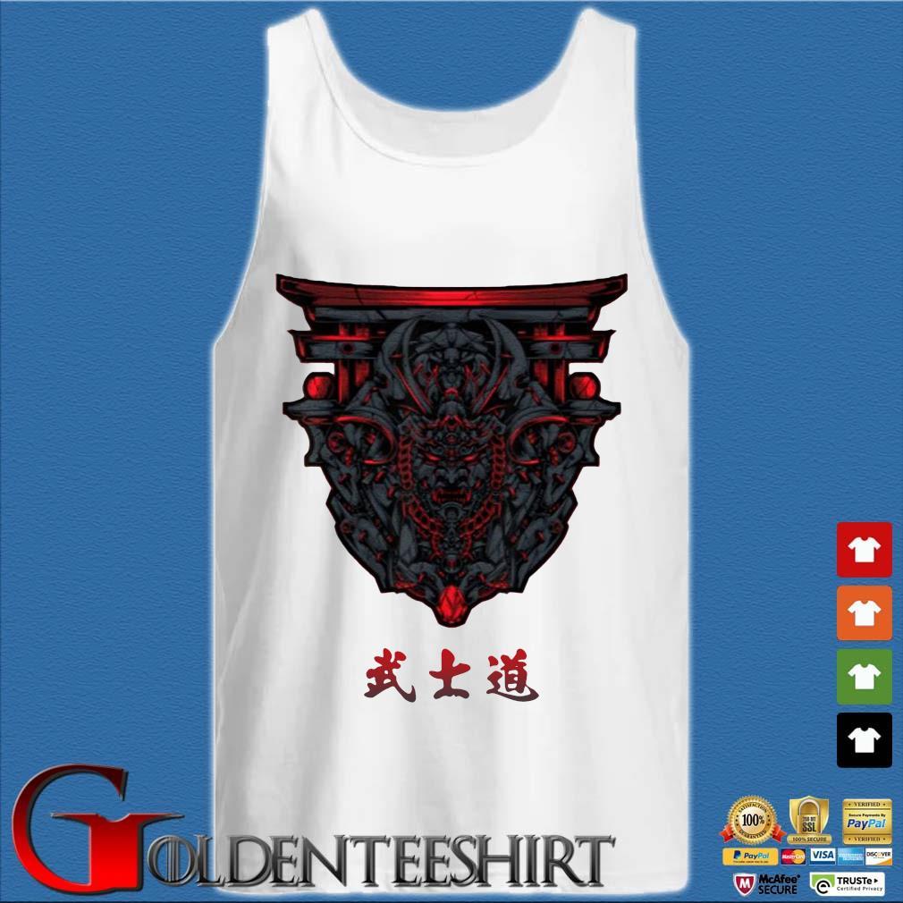 Samurai Bushido With Torii Shirt Tank top trắng