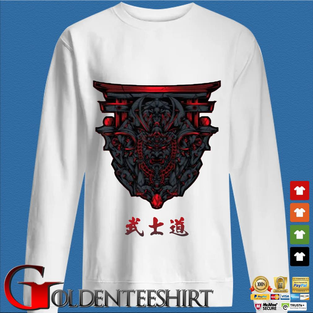 Samurai Bushido With Torii Shirt trang Sweater