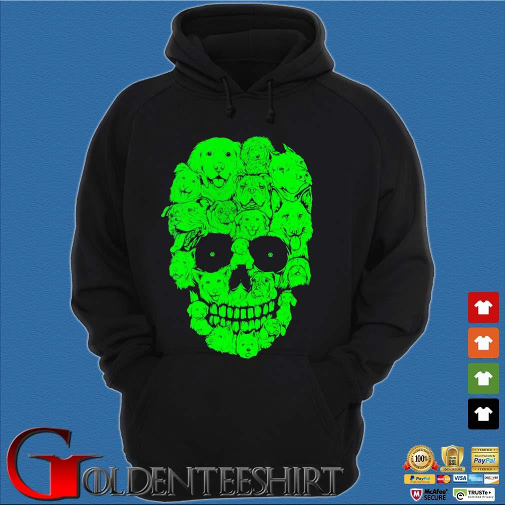 Skull dogs Halloween s Hoodie đen
