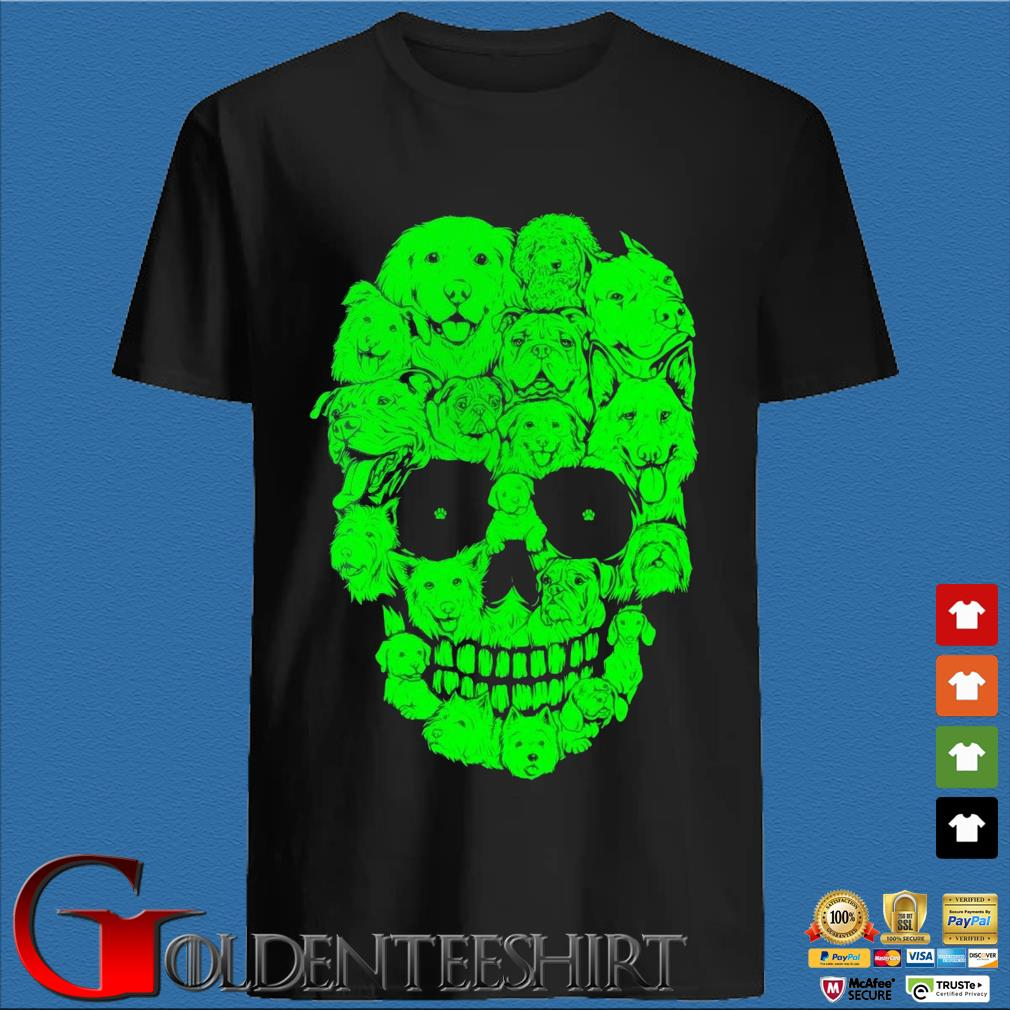 Skull dogs Halloween shirt