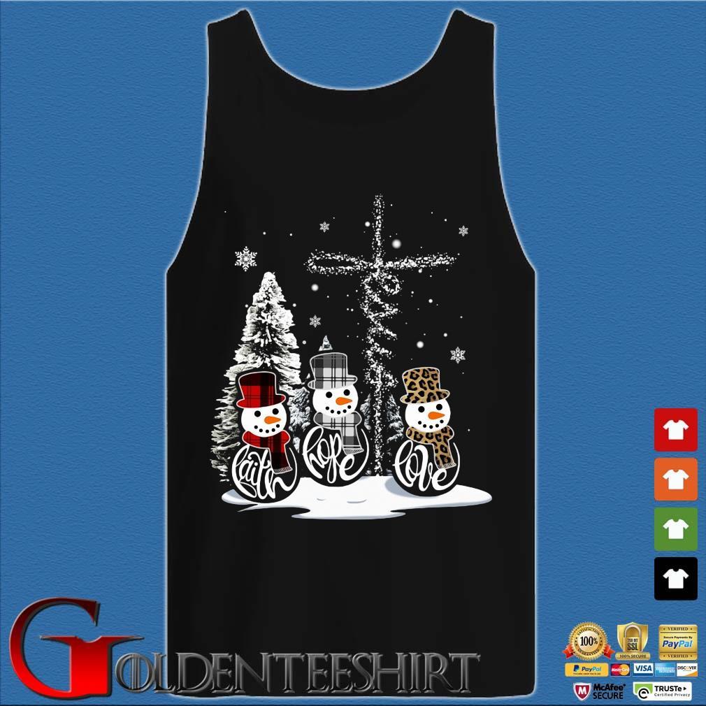 Snowman faith hope love Christmas sweats Tank top den