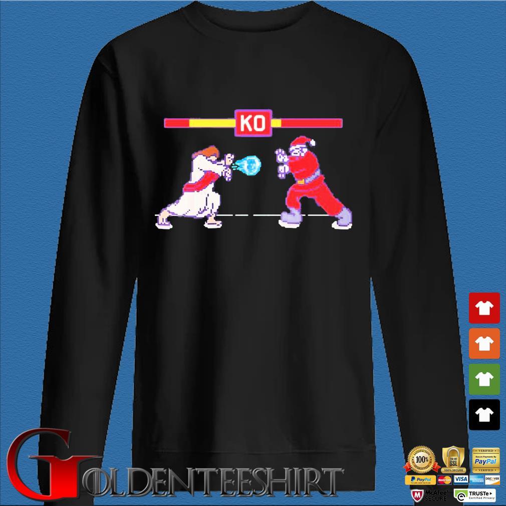 Street Fight Jesus Vs Santa sweats Den Sweater