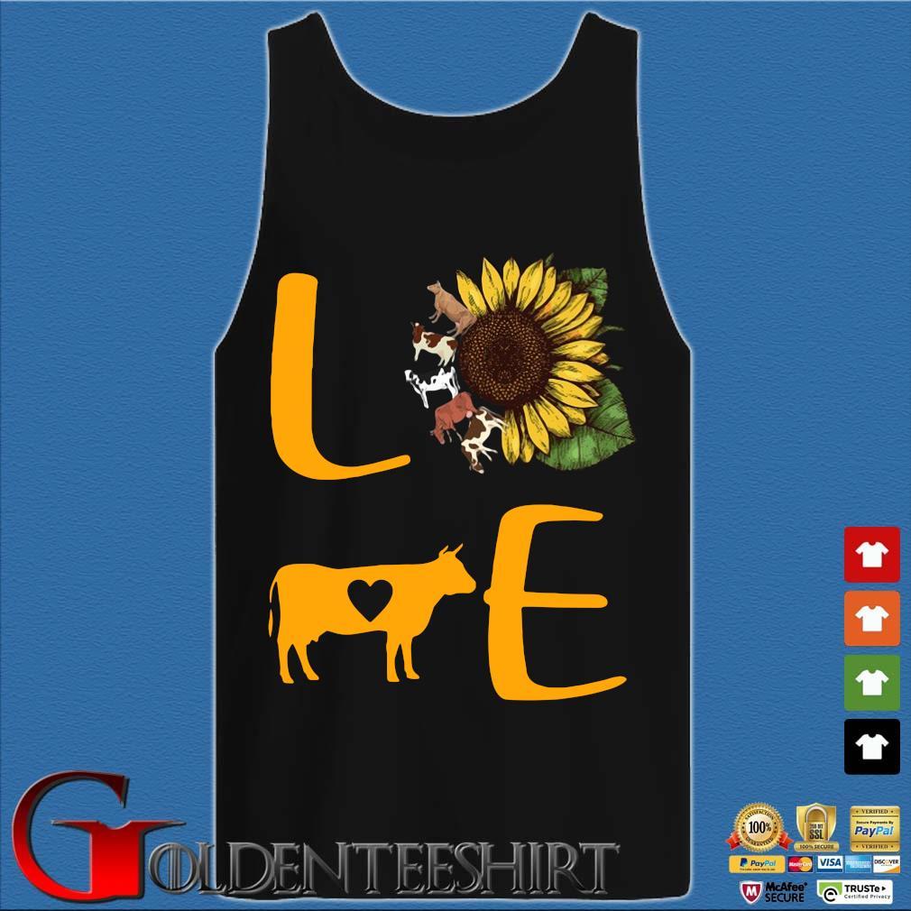 Sunflower Cow love s Tank top den