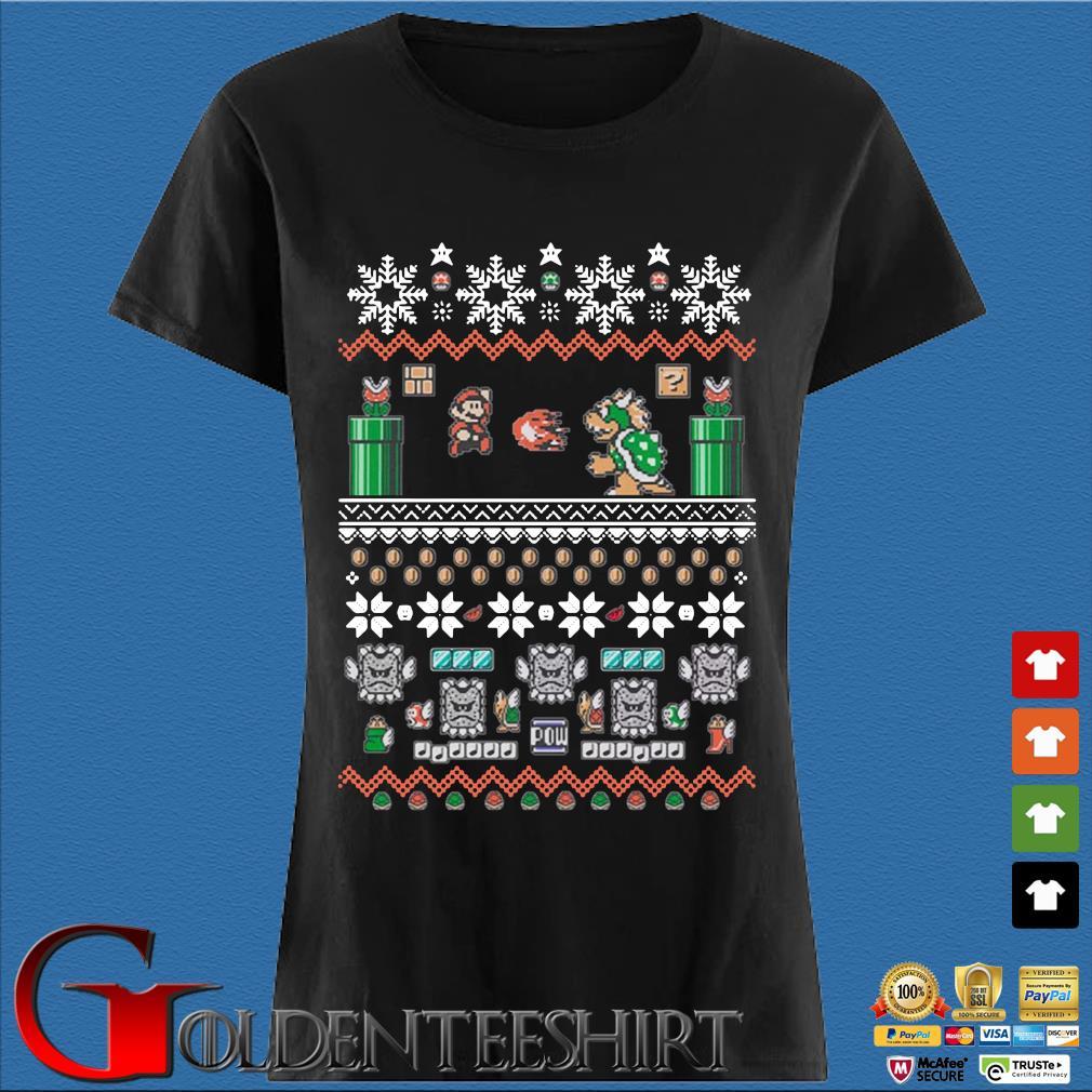 Super Mario Bros Ugly Christmas Shirt Den Ladies