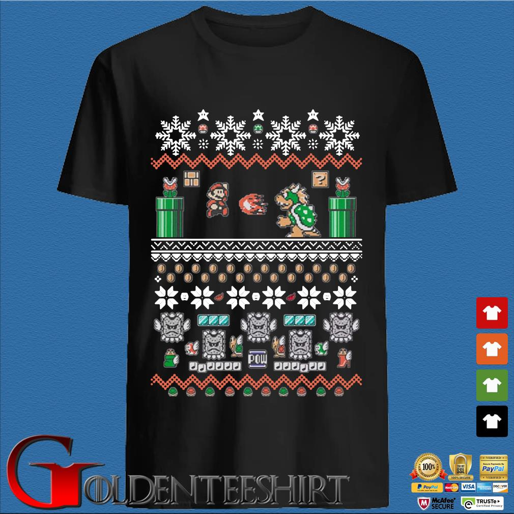 Super Mario Bros Ugly Christmas Shirt