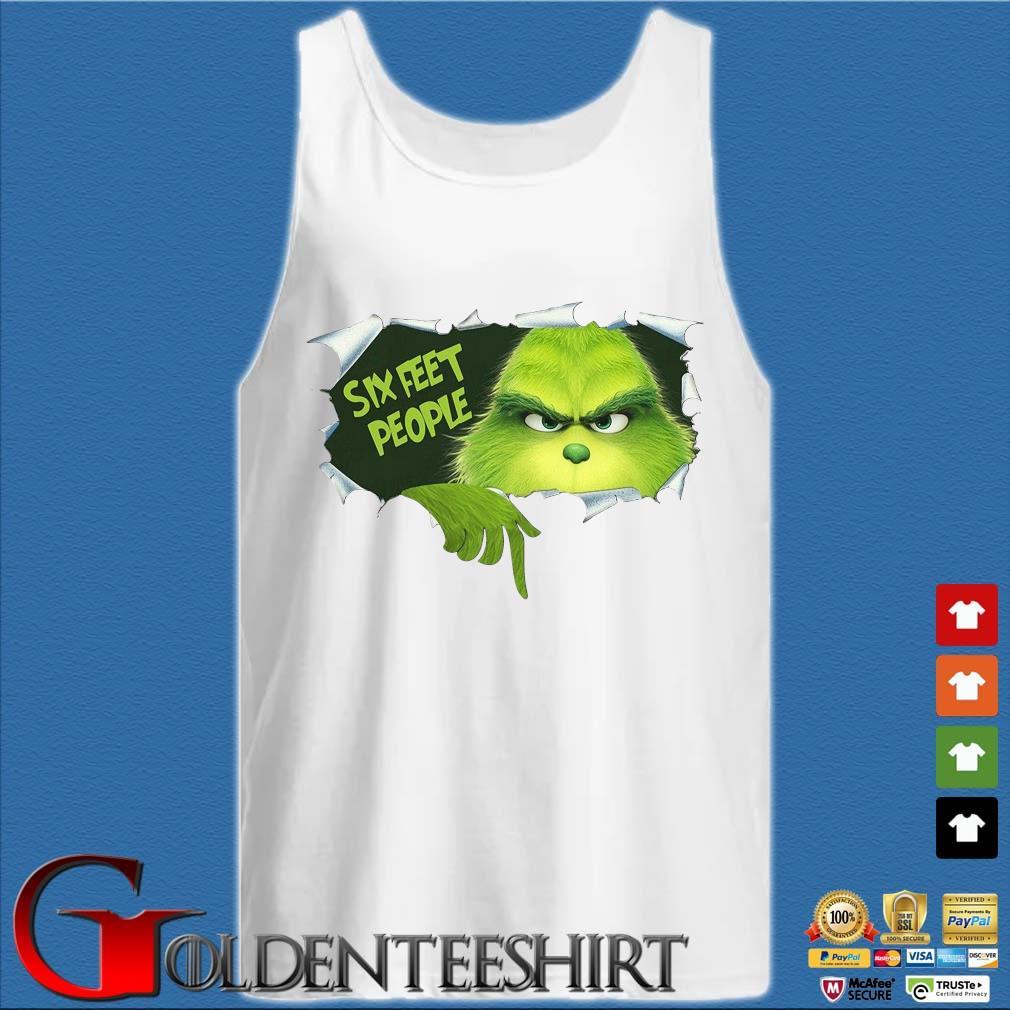 The Grinch Six Feet People Shirt Tank top trắng