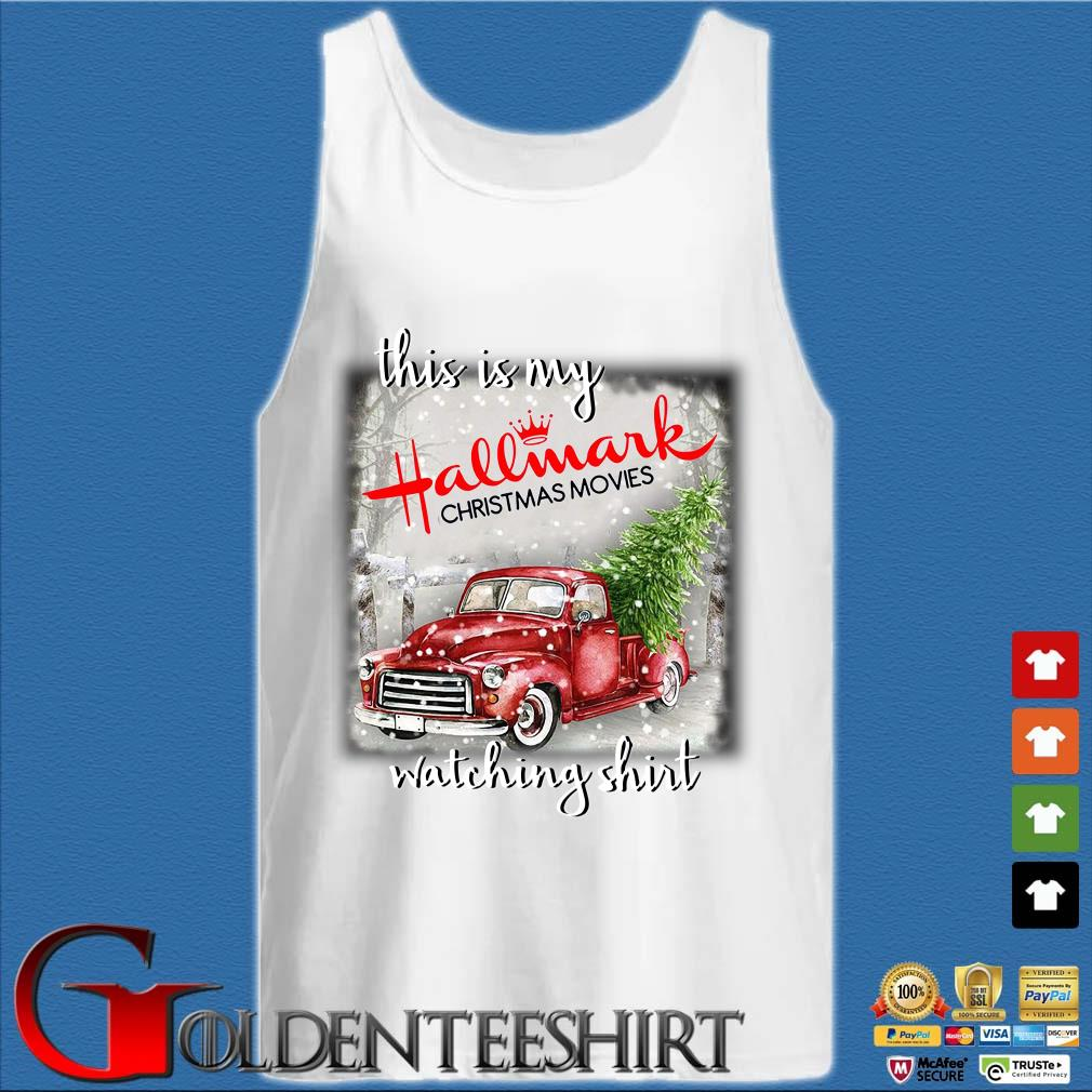 This is my Hallmark Christmas movie watching s Tank top trắng